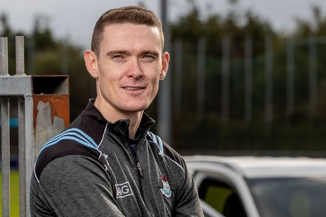 Brian Fenton in Parnell Park as Mitsubishi Motors Ireland announce official vehicle partnership with Dublin GAA.