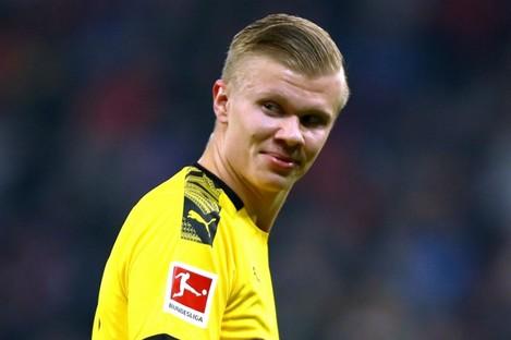 Borussia Dortmund striker Erling Haaland.