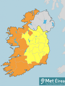 Status Orange wind warning for nine coastal counties to take effect tomorrow morning
