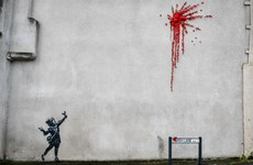 Banksy's Valentine's Day mural in Bristol covered up following 'mindless vandalism'