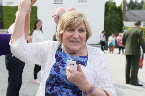 Elizabeth Coppin during a visit to Áras an Úachtaráin in 2018.