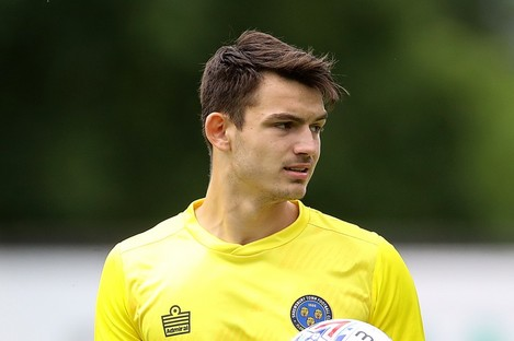 Shrewsbury Town goalkeeper Max O'Leary.