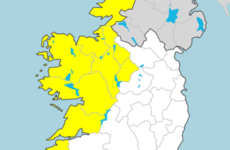Status Yellow rainfall warning in place for several western counties tomorrow