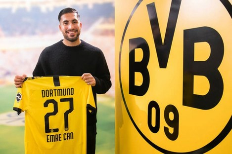 Emre Can, pictured when he first joined Dortmund in January.