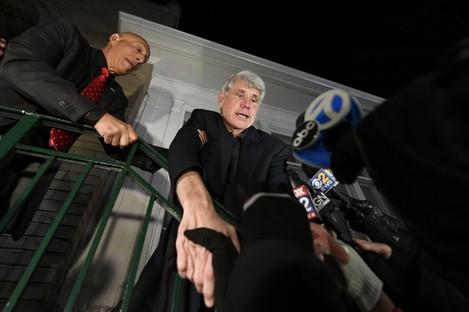 Former Illinois governor returning home last night.