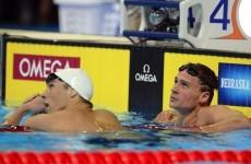 Lochte edges Phelps to set up freestyle showdown