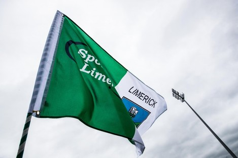 A general view of a Limerick flag.