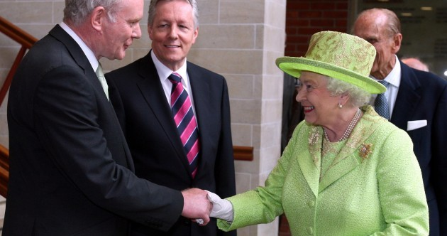 Pics: Martin McGuinness meets and shakes hands with Queen Elizabeth II