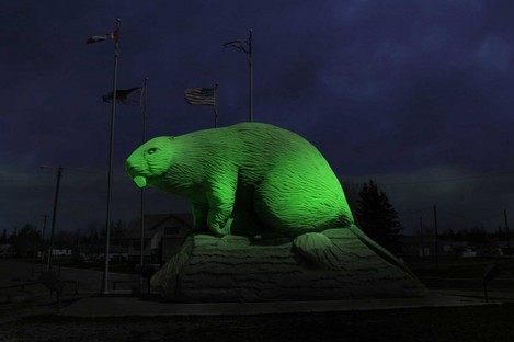 A mock-up of the Giant Beaver Sculpture, Beaverlodge