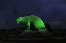 The world's largest beaver statue, a giant smurf and a kissing couple sculpture: These landmarks will be lit up for the 'Global Greening'