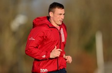 Six changes for Munster with O'Donnell and Sweetnam among replacements