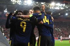 Lacazette hits late winner as Arsenal hold advantage to reach Europa League last 16