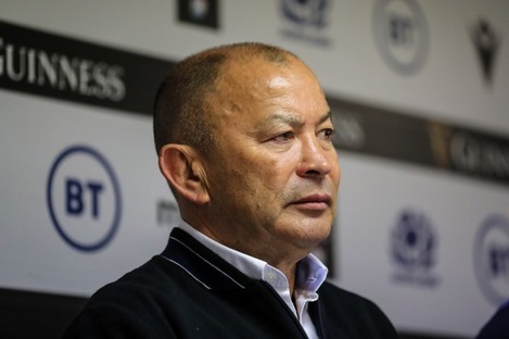 Eddie Jones during the press conference.