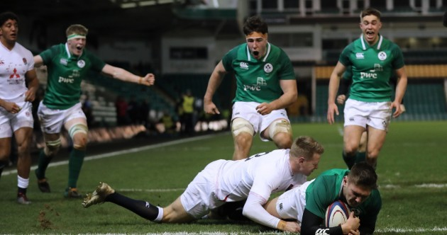 Exhilarating Ireland U20s tear into England for bonus point win