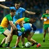Both sides finish with 14 men as late Mannion goal steers Dublin to victory