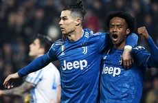 Ronaldo matches Batistuta and Quagliarella as Juventus goal glut continues
