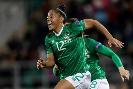 Jarrett in action for Ireland.