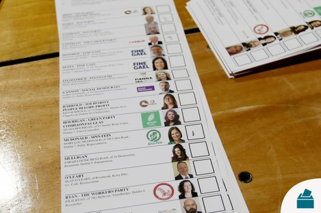 A Dublin Central ballot during the count earlier this month.