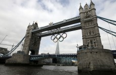 Ring in the games: London adds Olympic symbols to Tower Bridge