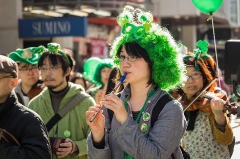 Japan always has a major St Patrick's Day celebration.