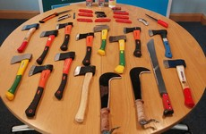 Three people arrested as knives and hatchets seized at funeral in Co Tyrone