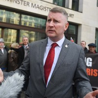 Britain First leader Paul Golding denies terror charge after refusing to give police phone access