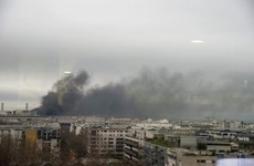 Fire breaks out near Paris train station after protests led to violence