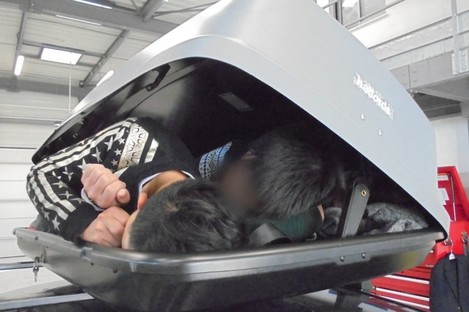 An image of the migrants in the roof box