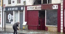 Windows smash and debris blown down street in Clare town as Storm Jorge arrives