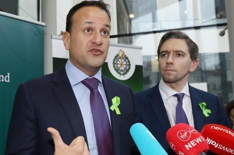 The Taoiseach with Simon Harris.