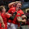 Coombes double helps Munster ease past 14-man Scarlets
