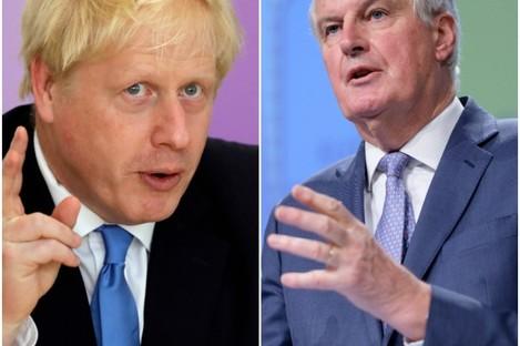 UK Prime Minister Boris Johnson and the EU's Michel Barnier