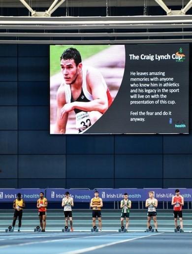 Touching tribute to late Irish athlete Craig Lynch illuminates big day at National Indoors