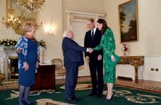 William and Kate arrive in Ireland and meet with President Higgins ahead of three day visit
