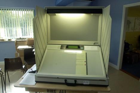 The e-voting machines (File)