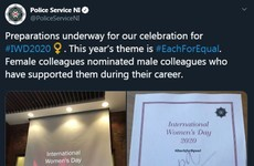 PSNI responds to criticism of Women's Day event that awards men for helping female officers