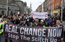 Hundreds take to Dublin streets calling for left-wing government