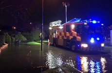 Emergency services pumping water from Clare housing estate flooded from heavy rainfall