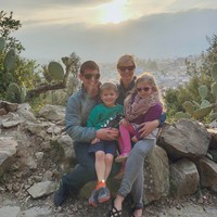 'Our daughter demanded ice cream': Kristina shares the reality behind this scenic family photo