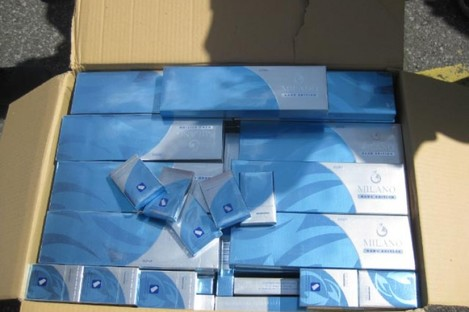 Some of the cigarettes seized during Tuesday's operation