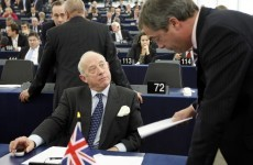 UK MEP suspended after roaring Nazi slogan at German