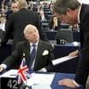 UK MEP suspended after roaring Nazi slogan at German