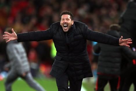 Diego Simeone celebrates.
