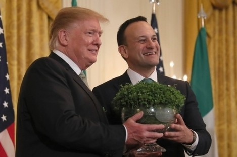 Donald Trump and Leo Varadkar in the White House last year.