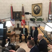 Leo Varadkar has met with Donald Trump in the Oval Office (they didn't shake hands)