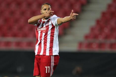 Georgios Karaiskakis celebrates a goal.