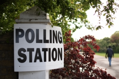 Polling station in the UK.