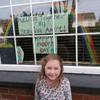 Children have been sharing their St Patrick's Day artwork through window panes