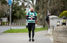 Conan Byrne undertakes 42km marathon walk to Dublin's football grounds