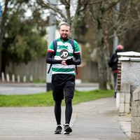 Conan Byrne undertakes 42km marathon walk to Dublin's football grounds